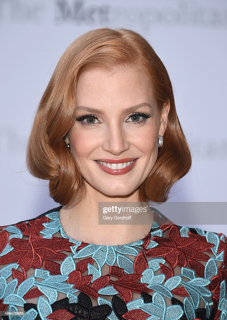 Actress Jessica Chastain attends the Metropolitan Opera 20152016 Season Opening Night's production of 'Otello'at The Metropolitan Opera House on...