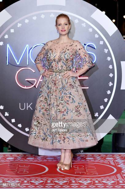 Actress Jessica Chastain attends the 'Molly's Game' UK premiere held at Vue West End on December 6 2017 in London England