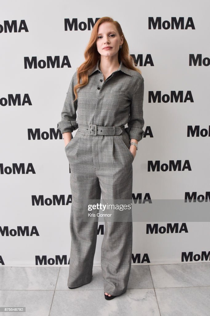 Actress Jessica Chastain attends the MoMA's Contenders Screening of 'Molly's Game' at MOMA on November 17, 2017 in New York City.