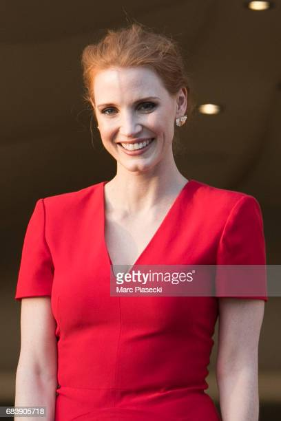 Actress Jessica Chastain attends the official jury dinner of the 70th Annual Cannes Film Festival at Martinez Hotel on May 16 2017 in Cannes France