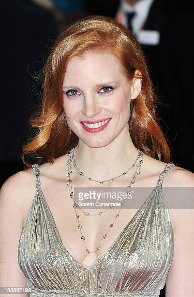 Actress Jessica Chastain attends the Orange British Academy Film Awards 2012 at the Royal Opera House on February 12 2012 in London England