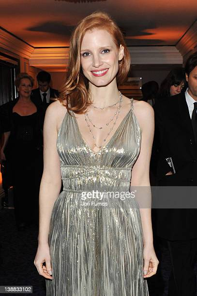 Actress Jessica Chastain attends the Orange British Academy Film Awards 2012 after party at Grosvenor House on February 12 2012 in London England