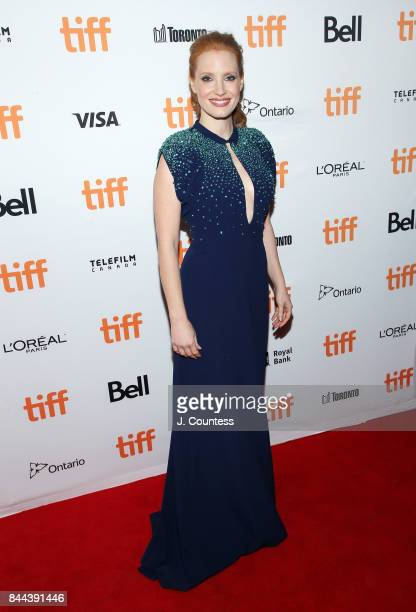 Actress Jessica Chastain attends the premiere of 'Molly's Game' during the 2017 Toronto International Film Festival at The Elgin on September 8 2017...