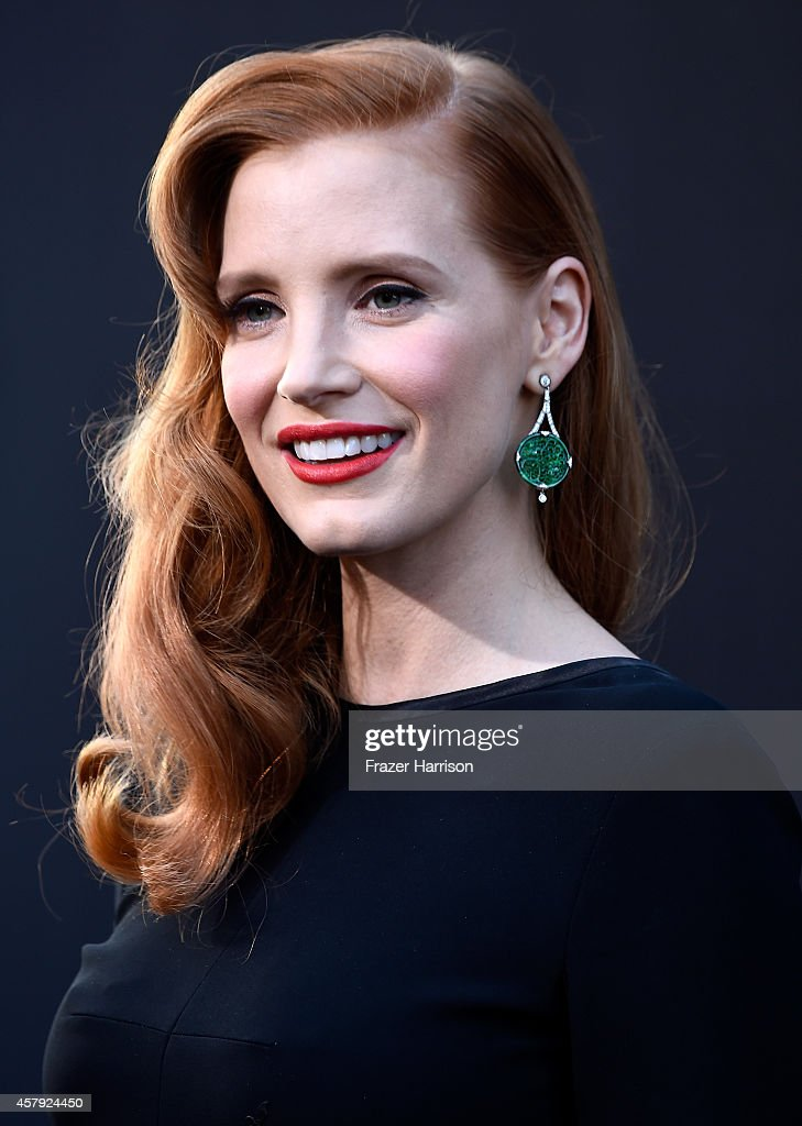 Actress Jessica Chastain attends the premiere of Paramount Pictures' 'Interstellar' at TCL Chinese Theatre IMAX on October 26 2014 in Hollywood...
