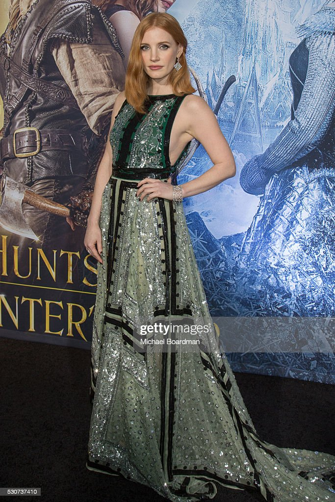 Actress Jessica Chastain attends the premiere of Universal Pictures' 'The Huntsman: Winter's War' at Regency Village Theatre on April 11, 2016 in Westwood, California.