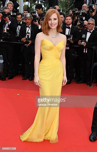 Actress Jessica Chastain attends the screening of 'Cafe Society' at the opening gala of the annual 69th Cannes Film Festival at Palais des Festivals...