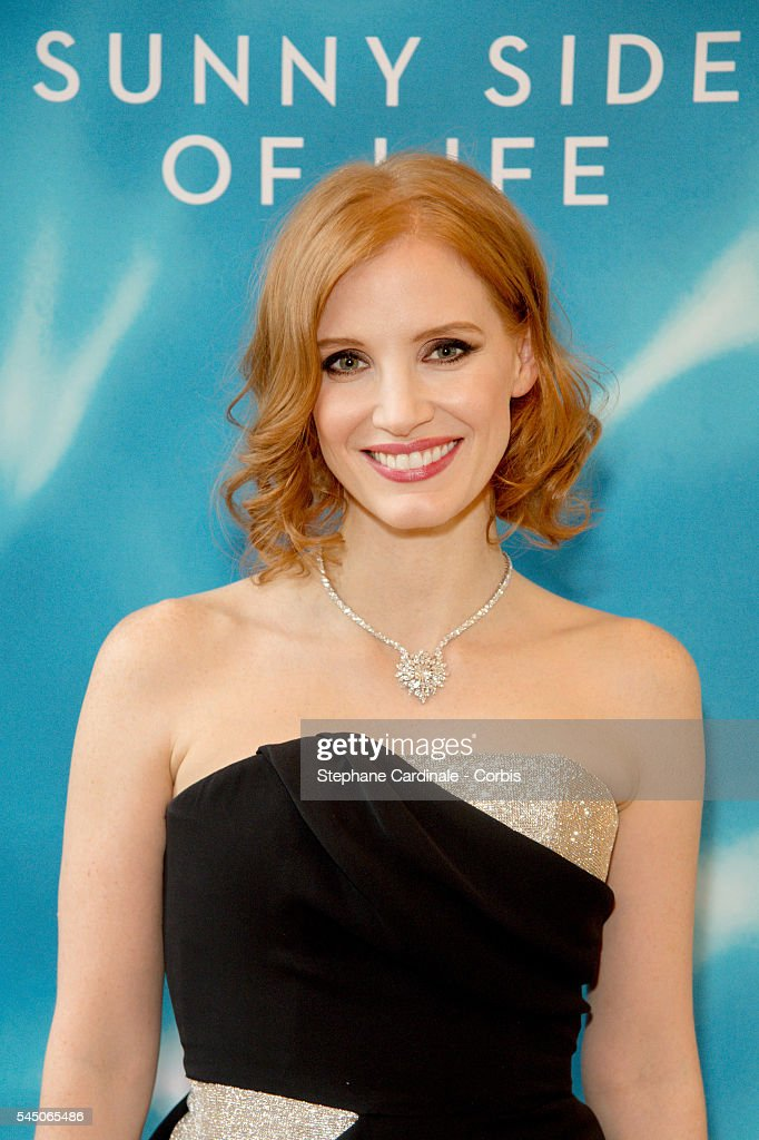 Actress Jessica Chastain attends the 'Sunny Side of Life' By Piaget Launch Partyshow as part of Paris Fashion Week on July 4 2016 in Paris France