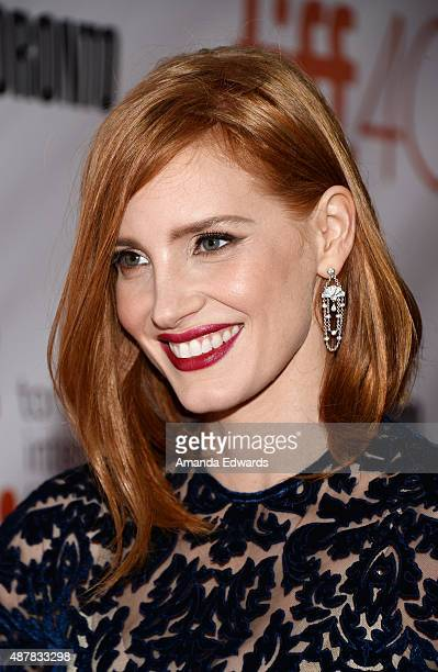 Actress Jessica Chastain attends the 'The Martian' premiere during the 2015 Toronto International Film Festival at Roy Thomson Hall on September 11...