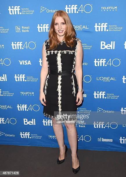 Actress Jessica Chastain attends the 'The Martian' press conference at the 2015 Toronto International Film Festival at TIFF Bell Lightbox on...
