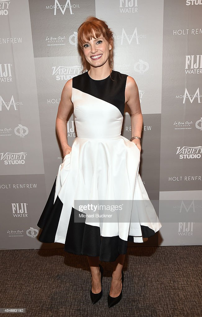 Actress Jessica Chastain attends the Variety Studio presented by Moroccanoil at Holt Renfrew during the 2014 Toronto International Film Festival on...