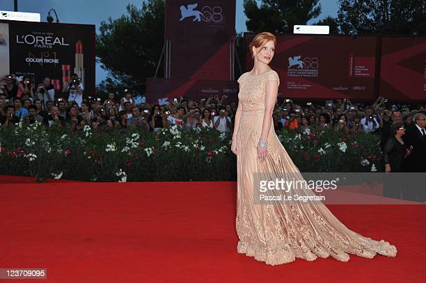 Actress Jessica Chastain attends the 'Wild Salome' premiere during the 68th Venice Film Festival at Palazzo del Cinema on September 4 2011 in Venice...