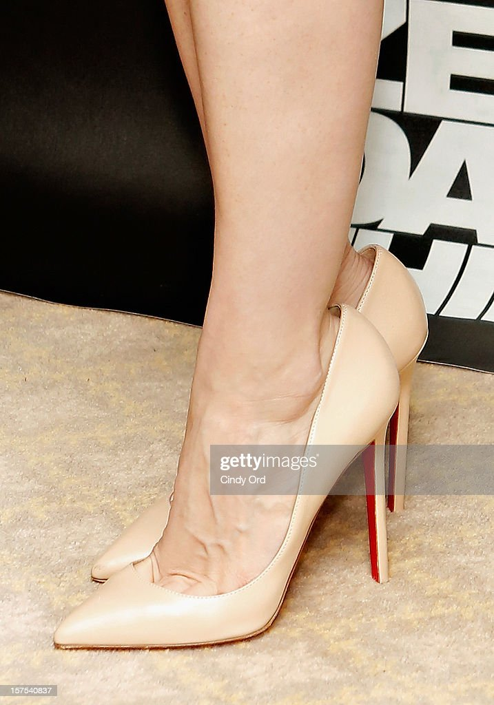 Actress Jessica Chastain (shoe detail) attends the 'Zero Dark Thirty' New York Photo Call at Ritz Carlton Hotel on December 4, 2012 in New York City.