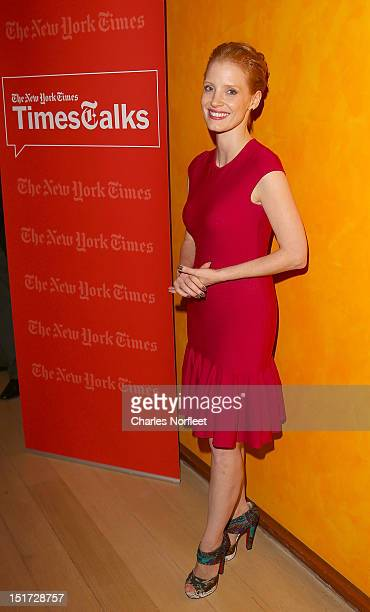 Actress Jessica Chastain attends TimesTalk Presents An Evening With Jessica Chastain at TheTimesCenter on September 10 2012 in New York City