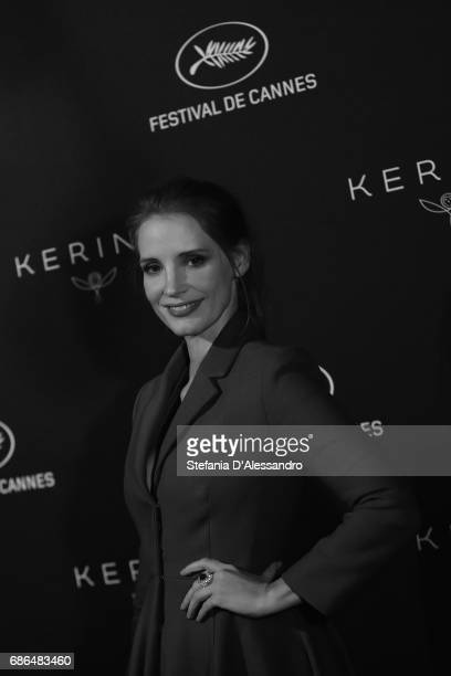 Actress Jessica Chastain attends Women In Motion Kering And Cannes Film Festival Official Dinner Photocall during the 70th Cannes Film Festival on...