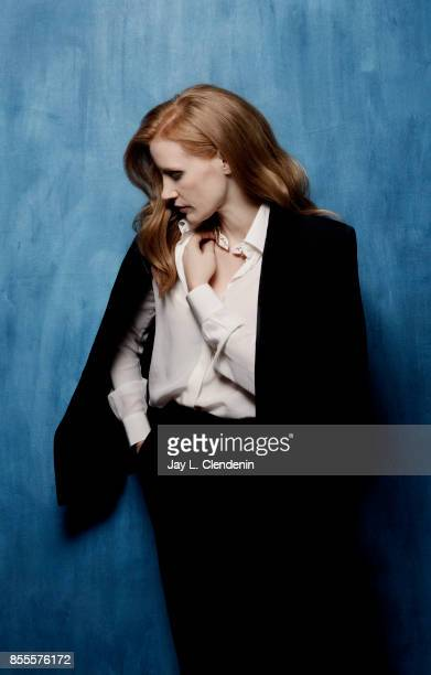 Actress Jessica Chastain from the film 'Woman Walks Ahead' poses for a portrait at the 2017 Toronto International Film Festival for Los Angeles Times...