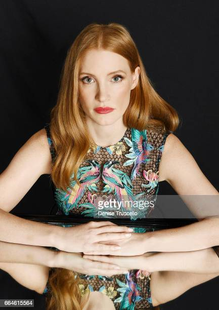 Actress Jessica Chastain is photographed at CinemaCon for Peoplecom on March 30 2017 in Las Vegas Nevada