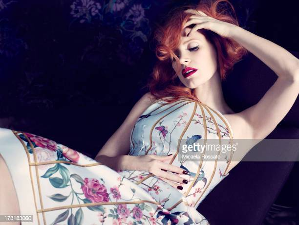 Actress Jessica Chastain is photographed for InStyle Magazine UK on November 12 2012 in New York City PUBLISHED IMAGE