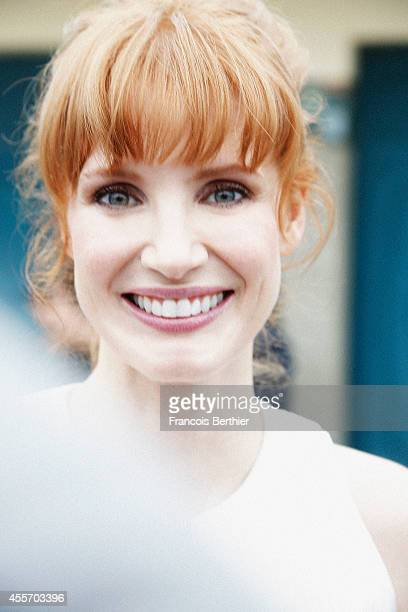 Actress Jessica Chastain is photographed for Self Assignment on September 5 2014 in Deauville France