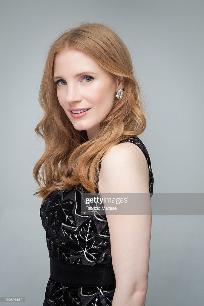 Actress <a gi-track='captionPersonalityLinkClicked' href=/galleries/search?phrase=Jessica+Chastain&family=editorial&specificpeople=653192 ng-click='$event.stopPropagation()'>Jessica Chastain</a> is photographed in Cannes, France.