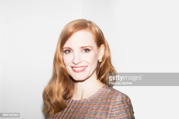 Actress Jessica Chastain is photographed on May 24 2017 in Cannes France