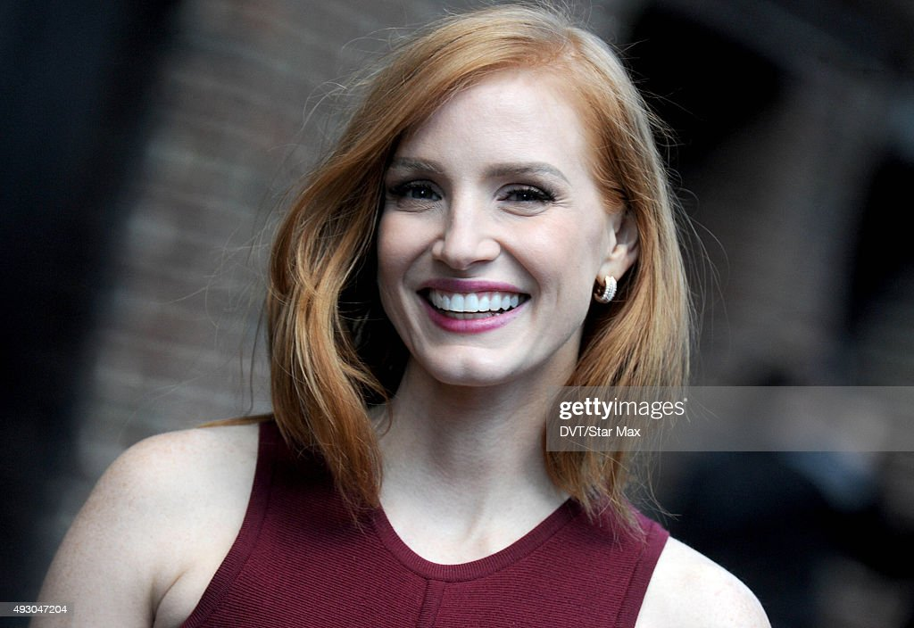 Actress <a gi-track='captionPersonalityLinkClicked' href=/galleries/search?phrase=Jessica+Chastain&family=editorial&specificpeople=653192 ng-click='$event.stopPropagation()'>Jessica Chastain</a> is seen on October 16, 2015 in New York City.