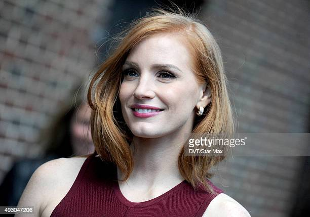Actress Jessica Chastain is seen on October 16 2015 in New York City