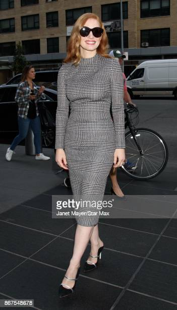 Actress Jessica Chastain is seen on October 28 2017 in New York City