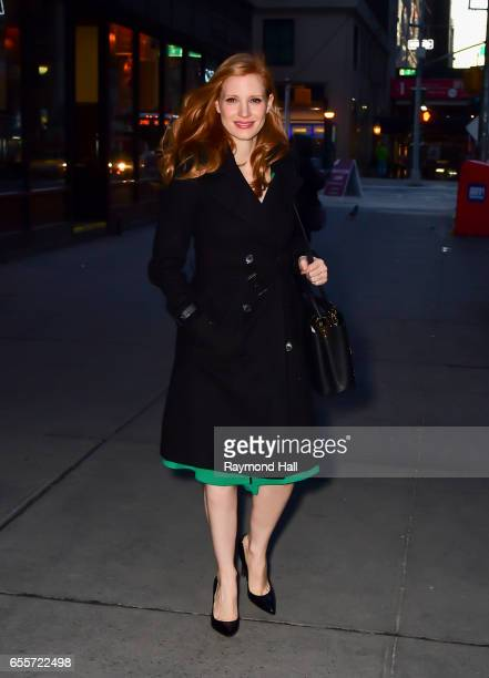 Actress Jessica Chastain is seen walking in Soho on March 20 2017 in New York City