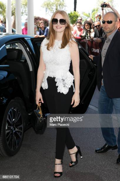 Actress Jessica Chastain is spotted during the 70th annual Cannes Film Festival at on May 19 2017 in Cannes France