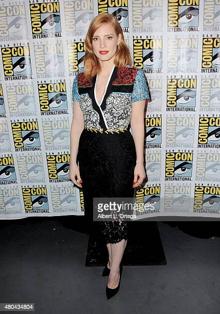 Actress Jessica Chastain poses at the Legendary Pictures panel during ComicCon International 2015 the at the San Diego Convention Center on July 11...