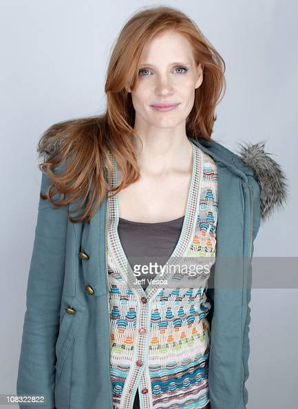 Actress Jessica Chastain poses for a portrait during the 2011 Sundance Film Festival at the WireImage Portrait Studio at The Samsung Galaxy Tab Lift...
