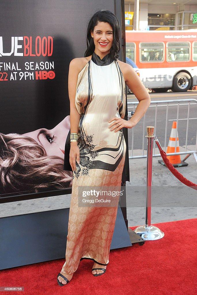 Actress Jessica Clark arrives at HBO's 'True Blood' final season premiere at TCL Chinese Theatre on June 17, 2014 in Hollywood, California.