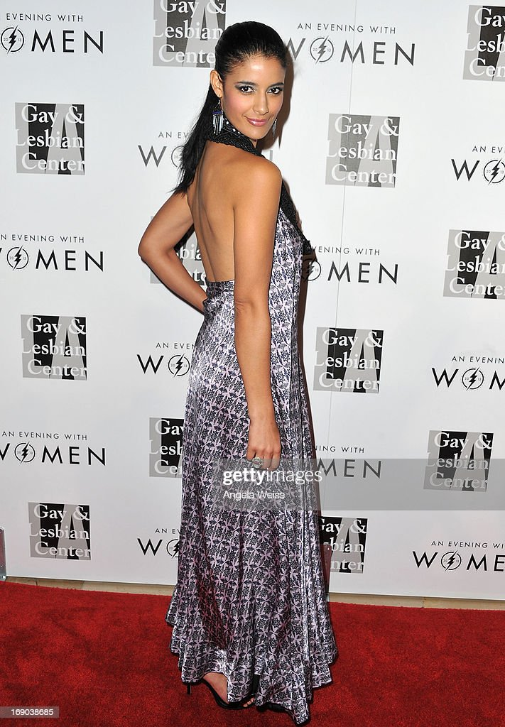 Actress Jessica Clark arrives at the L.A. Gay & Lesbian Center's 2013 'An Evening With Women' Gala at The Beverly Hilton Hotel on May 18, 2013 in Beverly Hills, California.