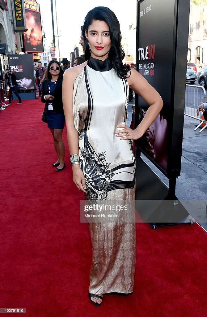 Actress Jessica Clark attends Premiere Of HBO's 'True Blood' Season 7 And Final Season at TCL Chinese Theatre on June 17, 2014 in Hollywood, California.