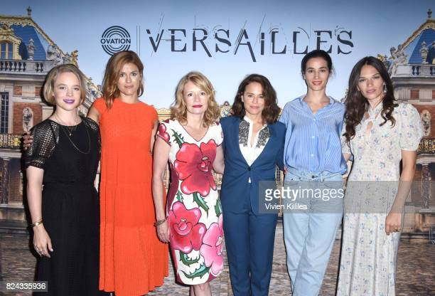 Actress Jessica Clark producer Aude Albano publicist Patricia Frith and actresses Suzanne Clement Elisa Lasowski and Anna Brewster attend Ovation...