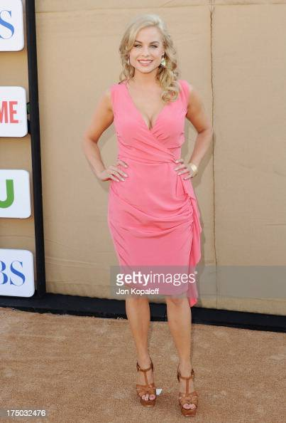 Actress Jessica Collins arrives at the 2013 Television Critic Association's Summer Press Tour CBS The CW Showtime Party at The Beverly Hilton Hotel...