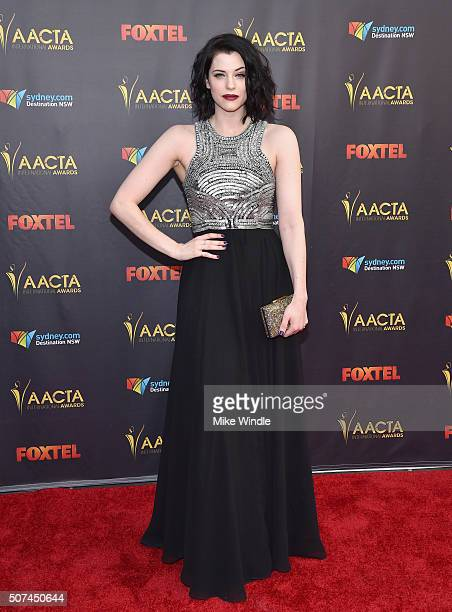 Actress Jessica De Gouw attends the 5th AACTA International Awards at Avalon Hollywood on January 29 2016 in Los Angeles United States