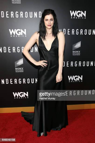 """Actress Jessica de Gouw attends the after party for WGN America's """"Underground"""" Season Two Premiere Screening at Baltaire Restaurant on February 28..."""
