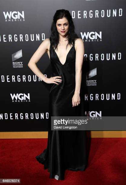 Actress Jessica De Gouw attends the premiere of WGN America's 'Underground' Season 2 at Westwood Village on February 28 2017 in Los Angeles California
