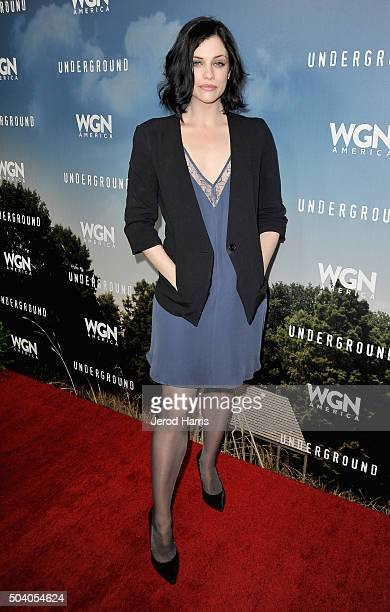 Actress Jessica de Gouw attends the WGN America Winter 2016 TCA Press Tour for 'Underground' at The Langham Huntington Hotel and Spa on January 8...