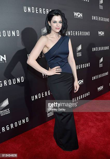 Actress Jessica De Gouw attends WGN America's 'Underground' World Premiere on March 2 2016 in Los Angeles California