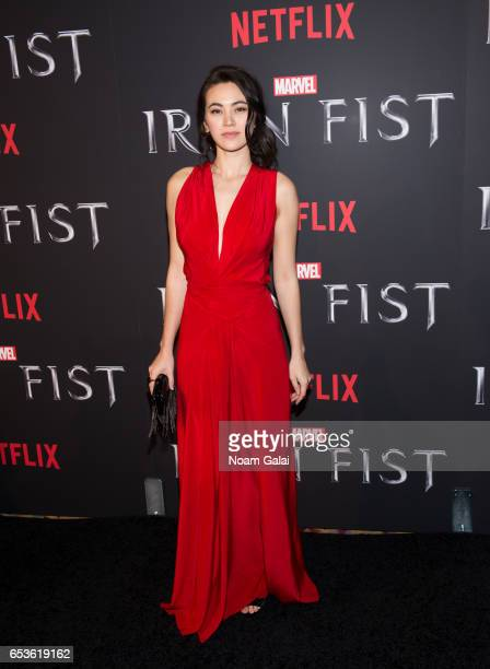 Actress Jessica Henwick attends Marvel's 'Iron Fist' New York screening at AMC Empire 25 on March 15 2017 in New York City