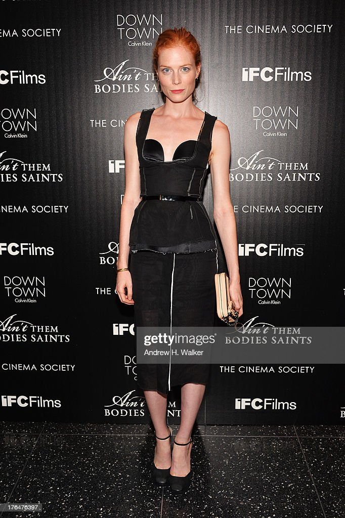 Actress <a gi-track='captionPersonalityLinkClicked' href=/galleries/search?phrase=Jessica+Joffe&family=editorial&specificpeople=649853 ng-click='$event.stopPropagation()'>Jessica Joffe</a> attends the Downtown Calvin Klein with The Cinema Society screening of IFC Films' 'Ain't Them Bodies Saints' at the Museum of Modern Art on August 13, 2013 in New York City.