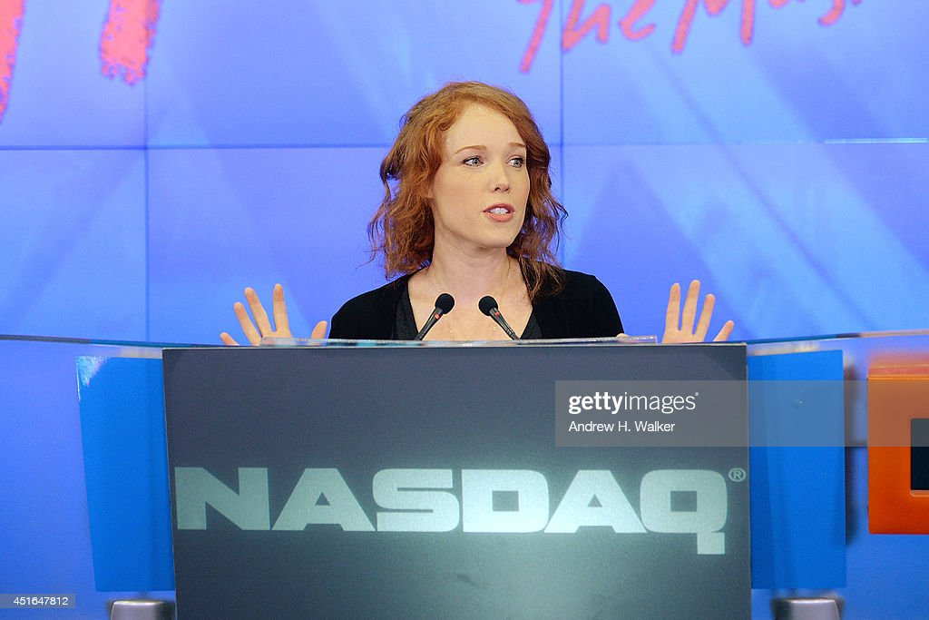 Actress Jessica Keenan Wynn visits the NASDAQ MarketSite with the cast of 'Heathers The Musical' on July 3, 2014 in New York City.