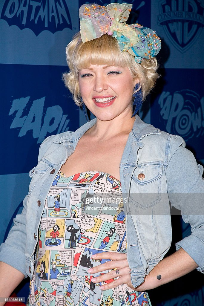 Actress Jessica Kiper attends the launch of the Batman classic TV series licensing program at Meltdown Comics and Collectibles on March 21, 2013 in Los Angeles, California.