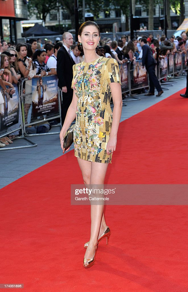 Actress Jessica Knappett attends the London Premiere of 'Alan Partidge: Alpha Papa' at Vue Leicester Square on July 24, 2013 in London, England.