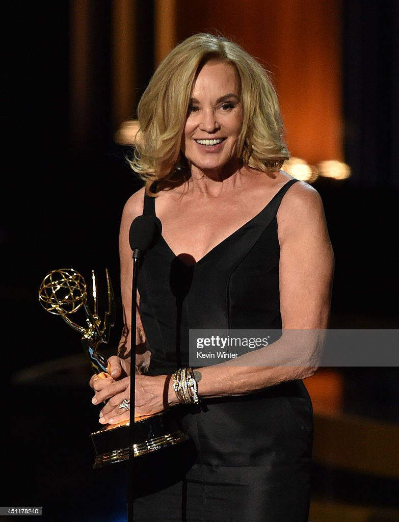Actress Jessica Lange accepts Outstanding Lead Actress in a Miniseries or Movie for 'American Horror Story: Coven' onstage at the 66th Annual Primetime Emmy Awards held at Nokia Theatre L.A. Live on August 25, 2014 in Los Angeles, California.