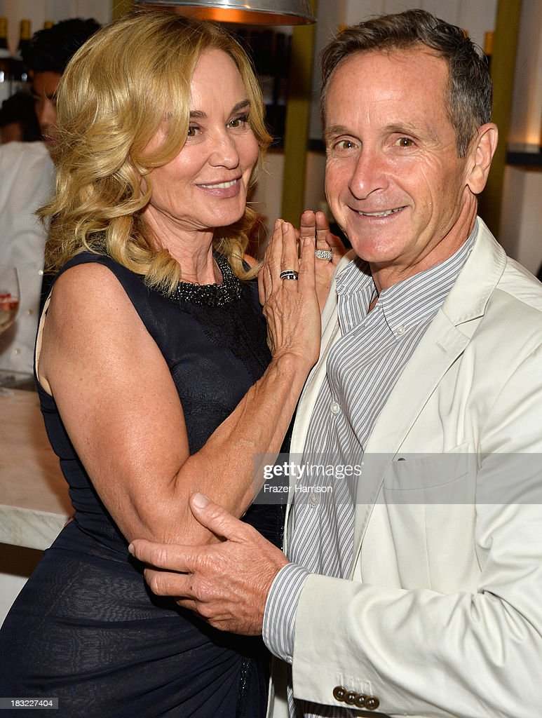 Actress <a gi-track='captionPersonalityLinkClicked' href=/galleries/search?phrase=Jessica+Lange&family=editorial&specificpeople=203310 ng-click='$event.stopPropagation()'>Jessica Lange</a> and Executive Producer Dante Di Loreto attend the Premiere Of FX's 'American Horror Story: Coven' after party at Fig & Olive Melrose Place on October 5, 2013 in West Hollywood, California.