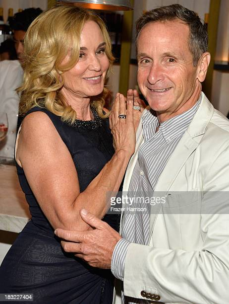 Actress Jessica Lange and Executive Producer Dante Di Loreto attend the Premiere Of FX's 'American Horror Story Coven' after party at Fig Olive...
