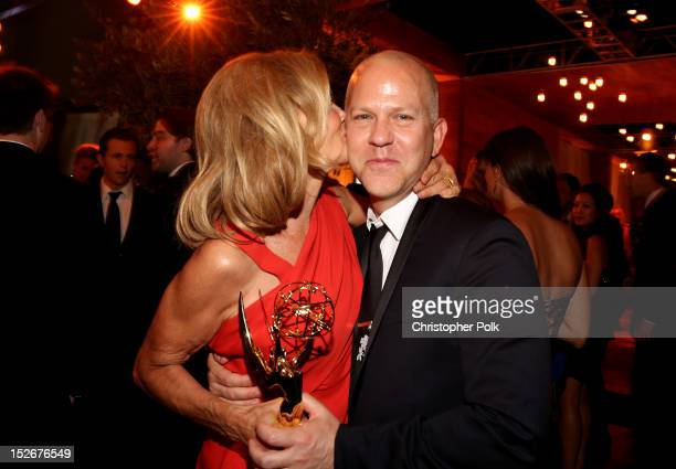 Actress Jessica Lange and Producer Ryan Murphy attend the FOX Broadcasting Company Twentieth Century FOX Television and FX 2012 Post Emmy party at...